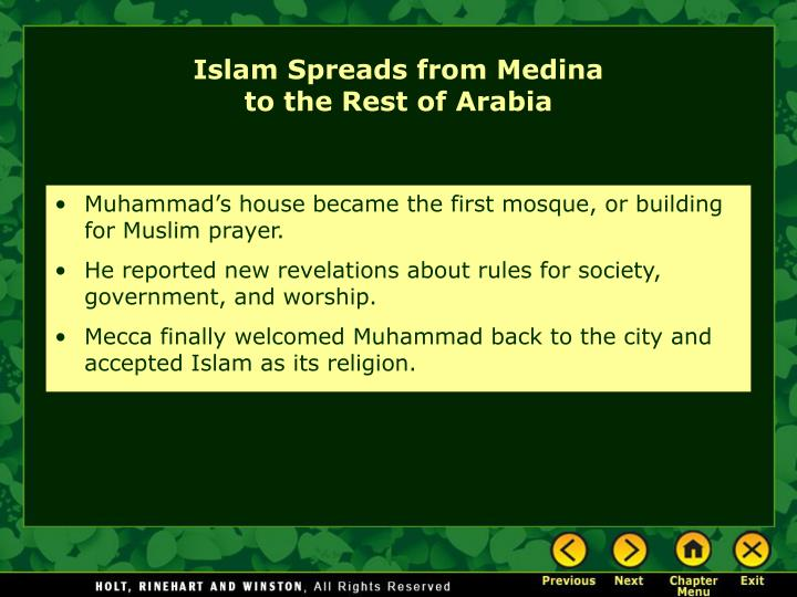 Islam Spreads from Medina