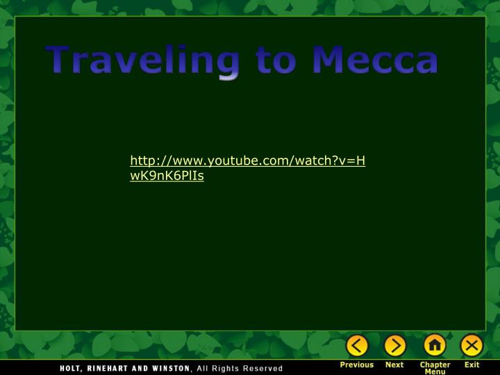Traveling to Mecca