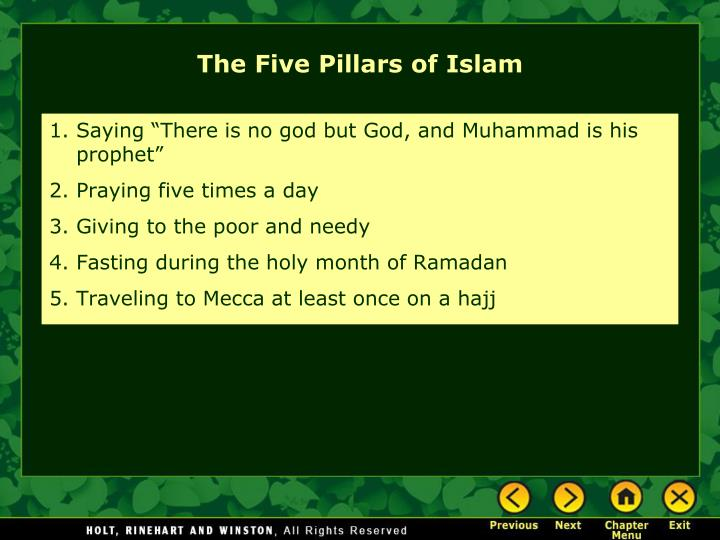 """Saying """"There is no god but God, and Muhammad is his prophet"""""""