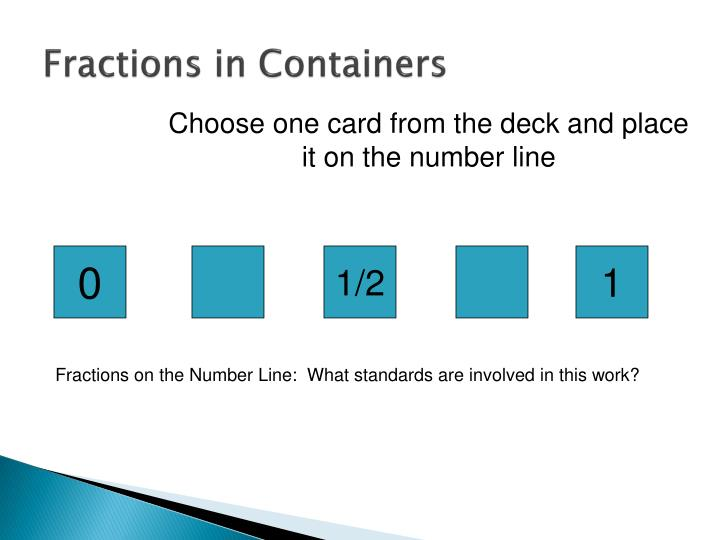 Fractions in Containers