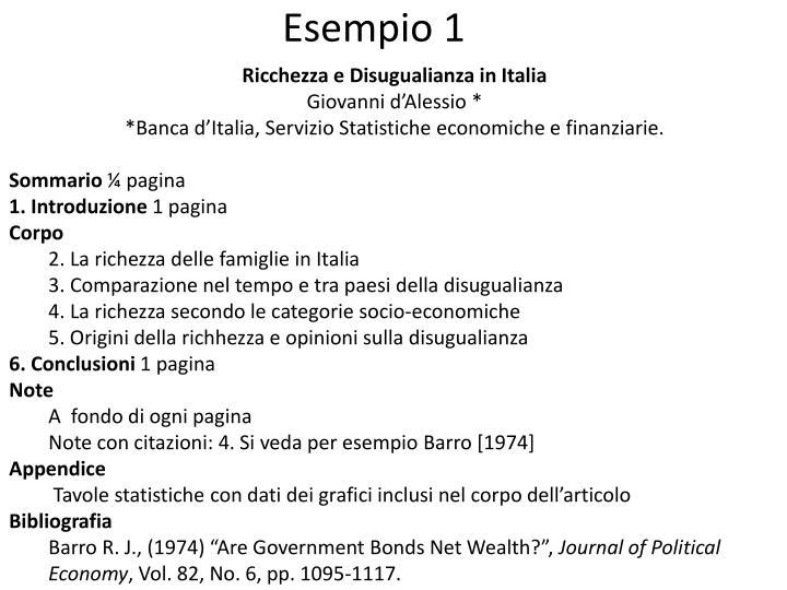 Ricchezza e Disugualianza in Italia
