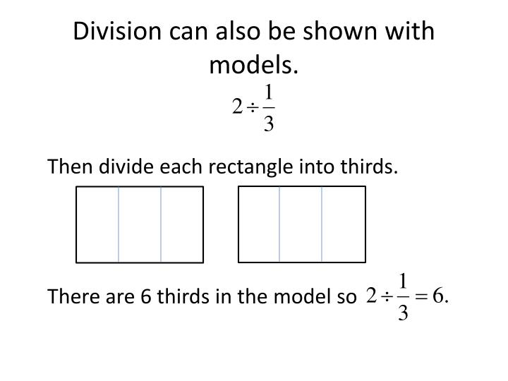 Division can also be shown with models.