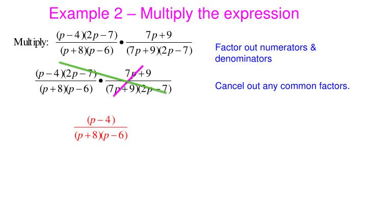 Example 2 – Multiply the expression