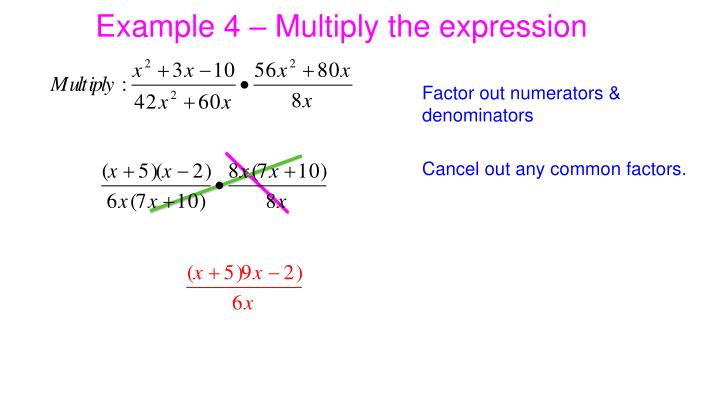 Example 4 – Multiply the expression