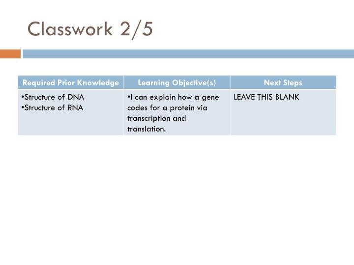 Classwork 2