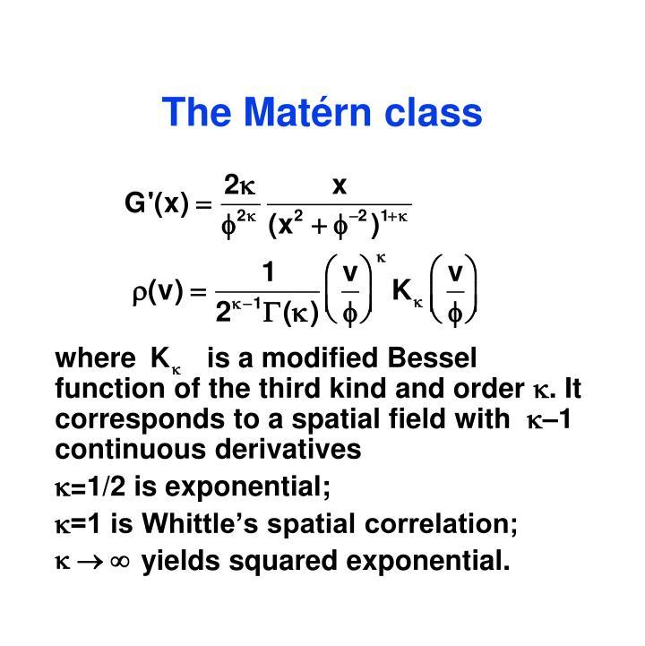 The Matérn class
