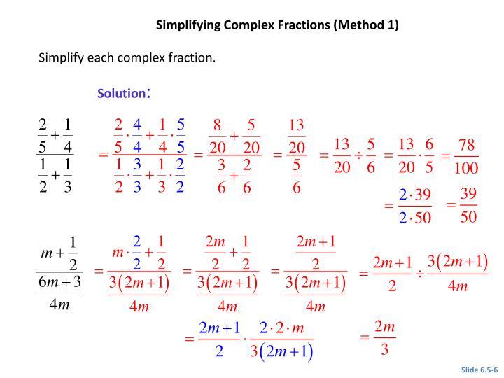 CLASSROOM EXAMPLE 1
