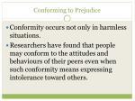 conforming to prejudice