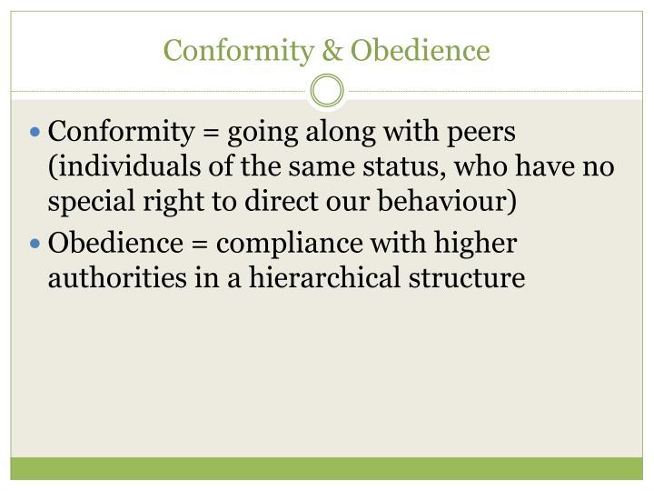Conformity & Obedience