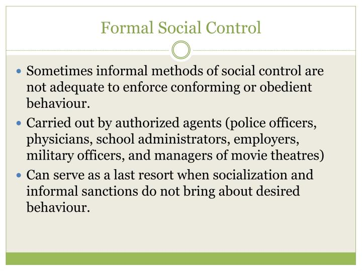 Formal Social Control