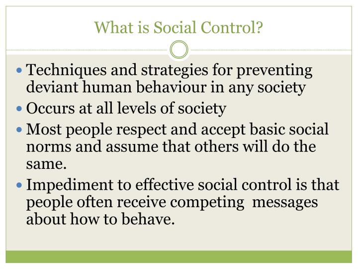 What is Social Control?
