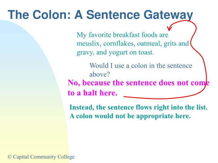The Colon: