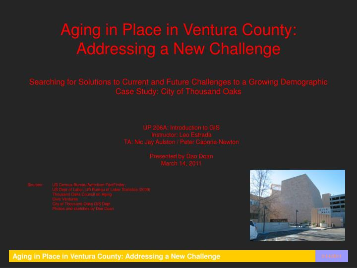 Aging in Place in Ventura County: