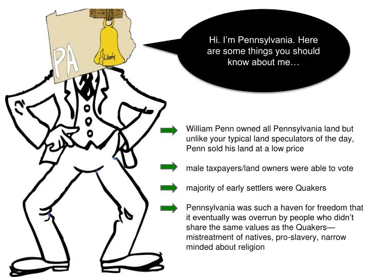 Hi. I'm Pennsylvania. Here are some things you should know about me…