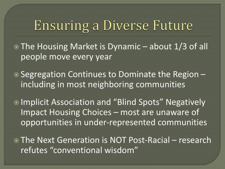 Ensuring a Diverse Future