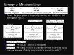 energy of minimum error