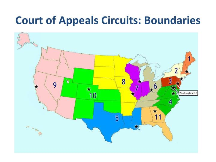 Court of Appeals Circuits: Boundaries