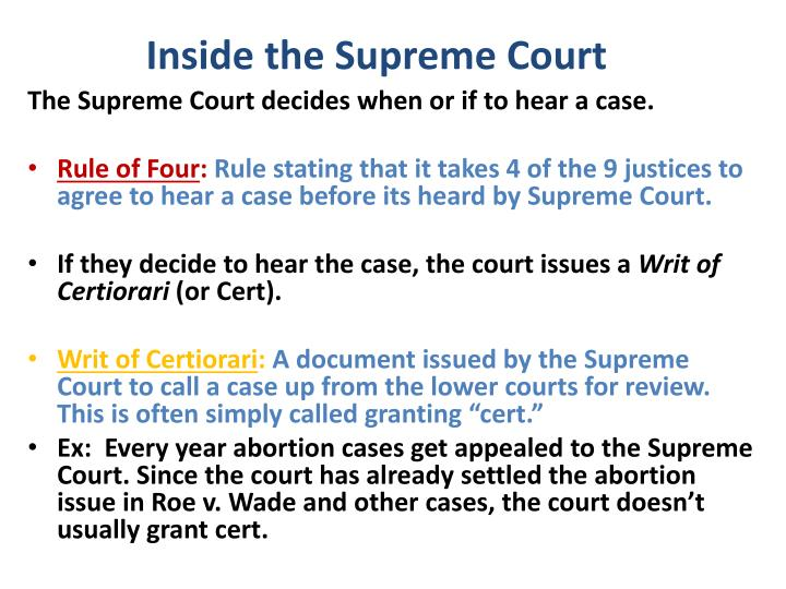 Inside the Supreme Court