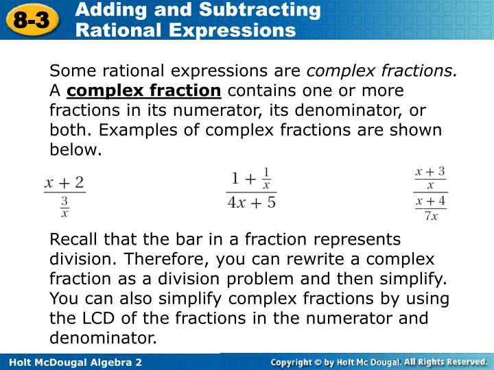 Some rational expressions are