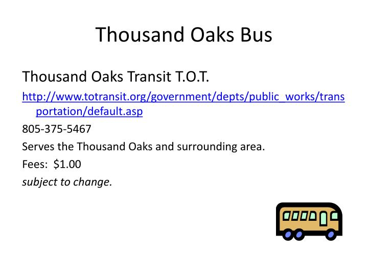 Thousand Oaks Bus