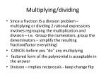 multiplying dividing
