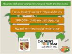 about us behaviour change for children s health and well being