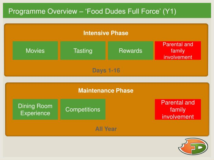 Programme Overview – 'Food Dudes Full Force' (Y1)