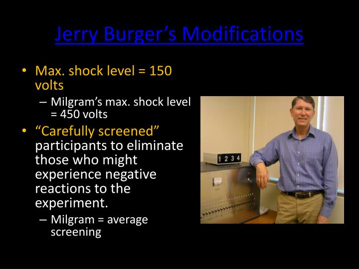 Jerry Burger's Modifications