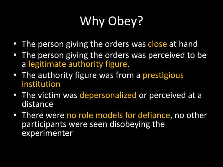 Why Obey?