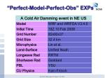 perfect model perfect obs exp s