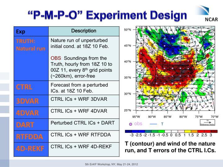 """""""P-M-P-O"""" Experiment Design"""