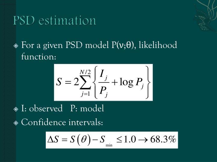 PSD estimation