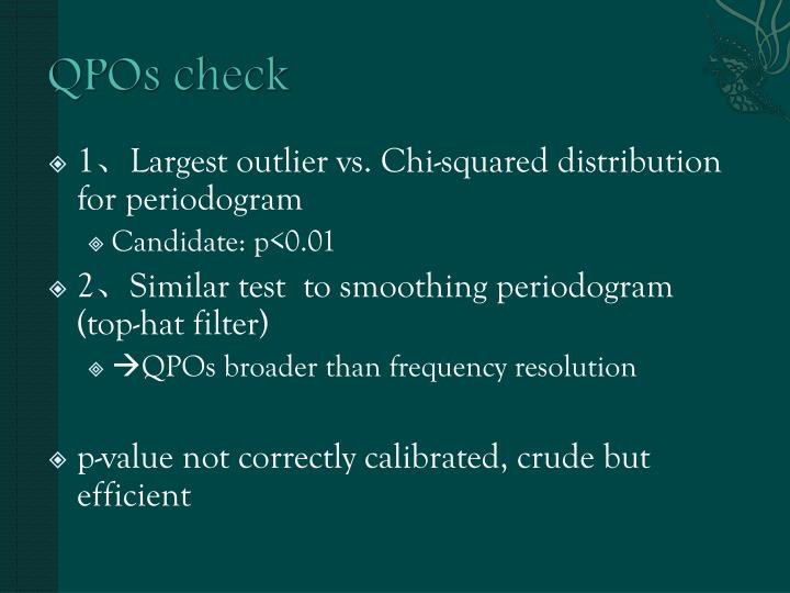 QPOs check