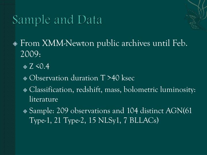 Sample and Data