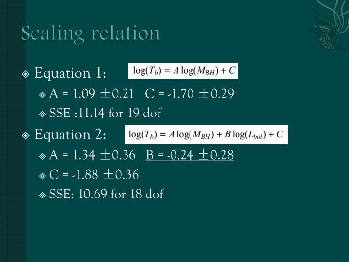 Scaling relation