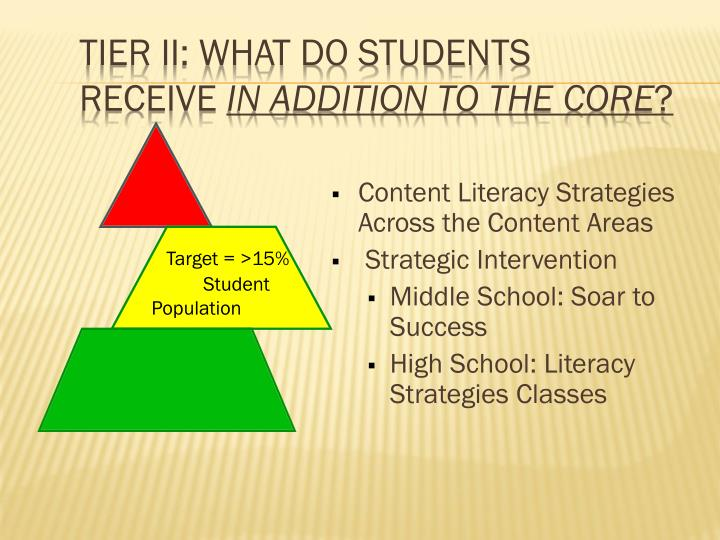 Tier II: What do students receive