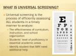 what is universal screening