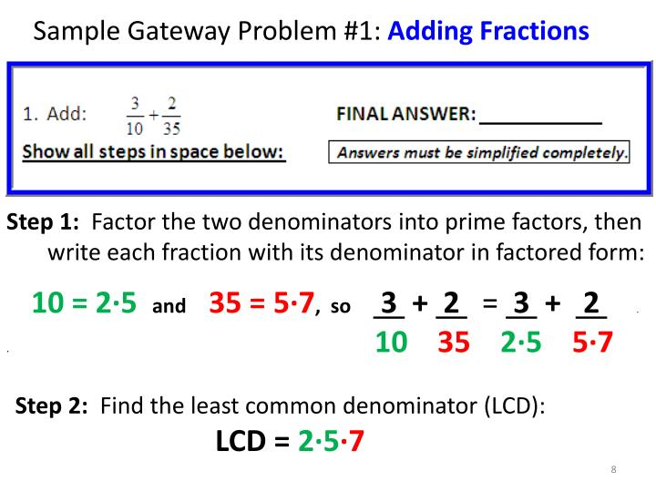 Sample Gateway Problem #1:
