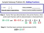 sample gateway problem 1 adding fractions
