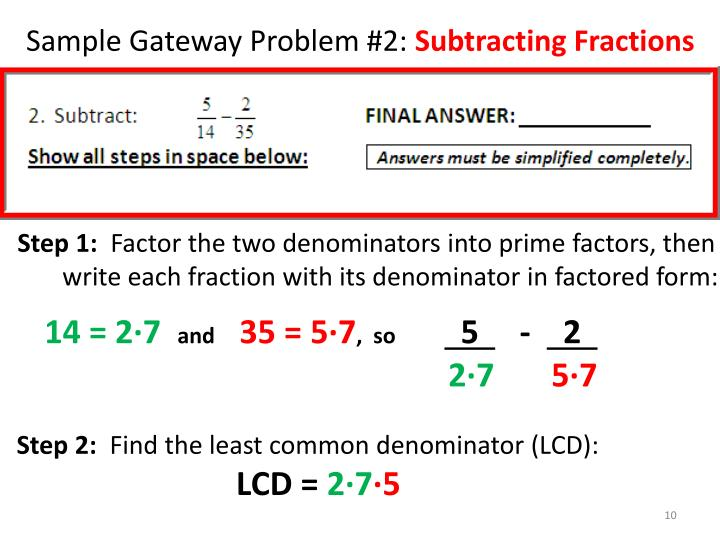 Sample Gateway Problem #2: