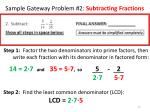 sample gateway problem 2 subtracting fractions