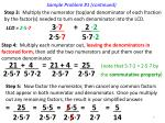 sample problem 1 continued