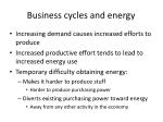 business cycles and energy