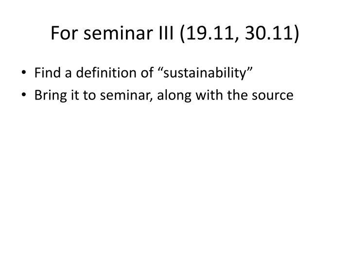 For seminar III (19.11, 30.11)