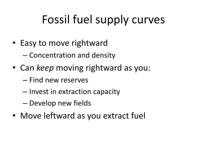 Fossil fuel supply curves