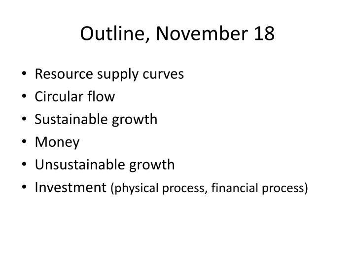 Outline, November 18