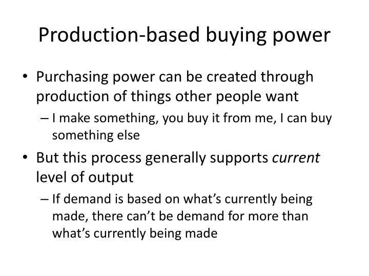 Production-based buying power