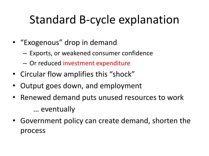 Standard B-cycle explanation