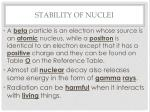 stability of nuclei2