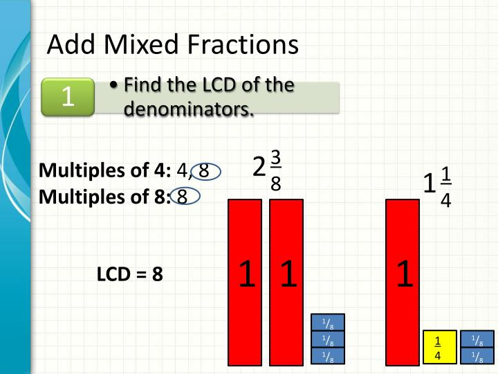 Add Mixed Fractions